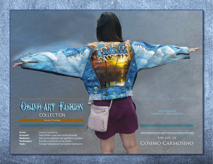 "TITLE: Promotional Flyer of ""Tahiti Dreams"" haute couture jacket"