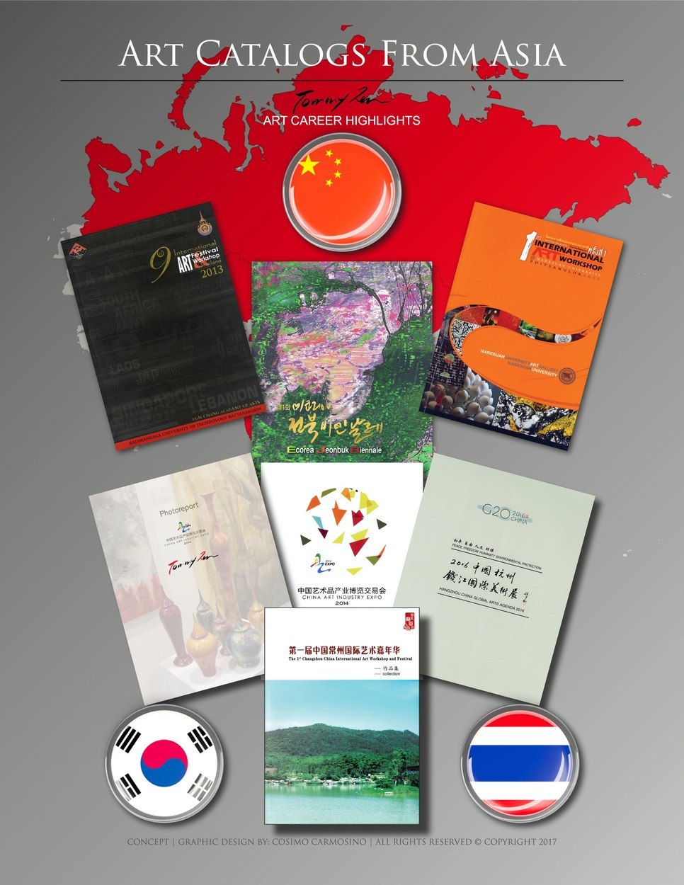 """TITLE: Promotional Poster for Tommy Zen """"Art Catalogs From Asia"""""""