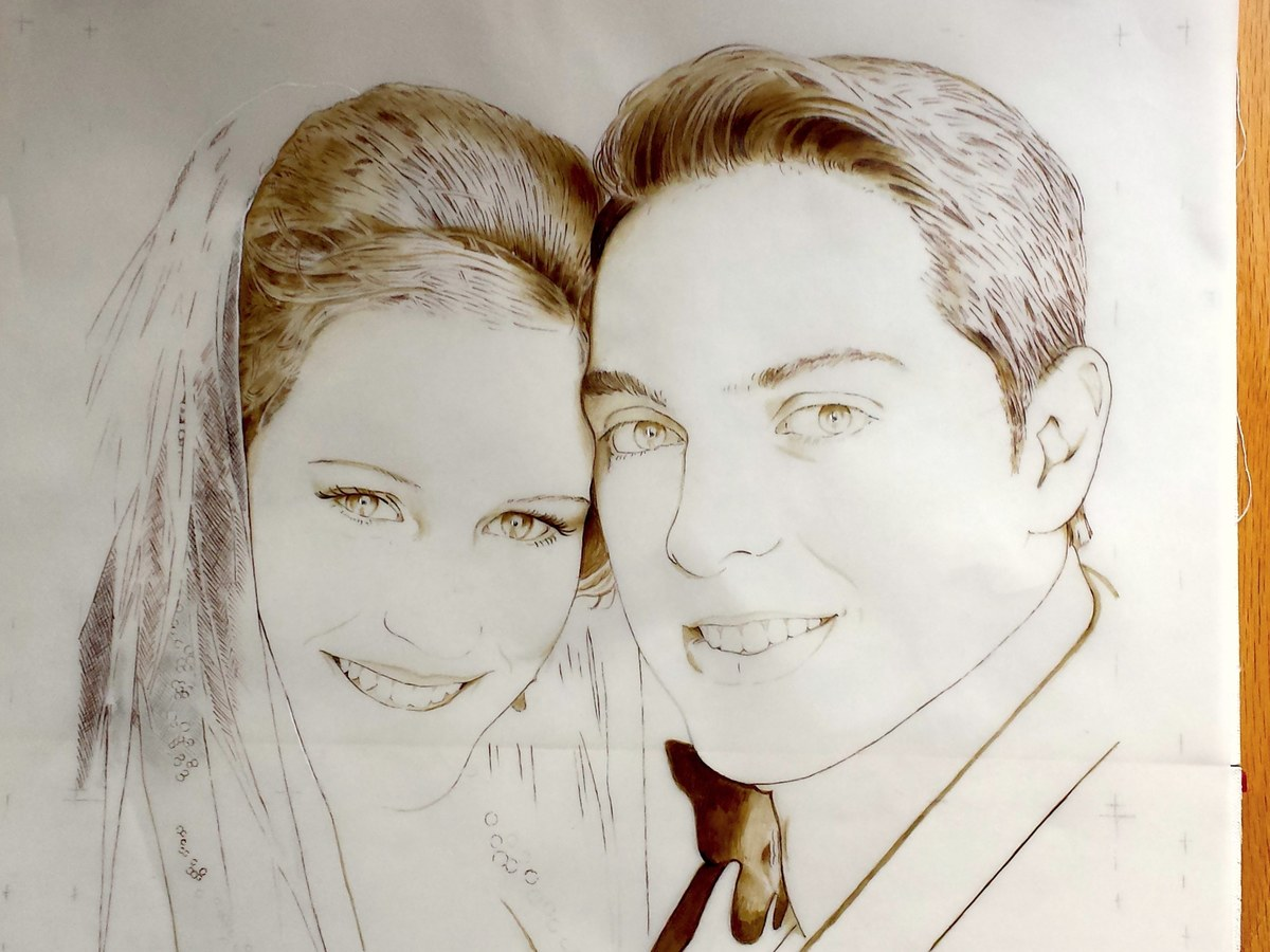 """TITLE: """"The Wedding Day of Dan and Marissa"""" (work in progress)"""
