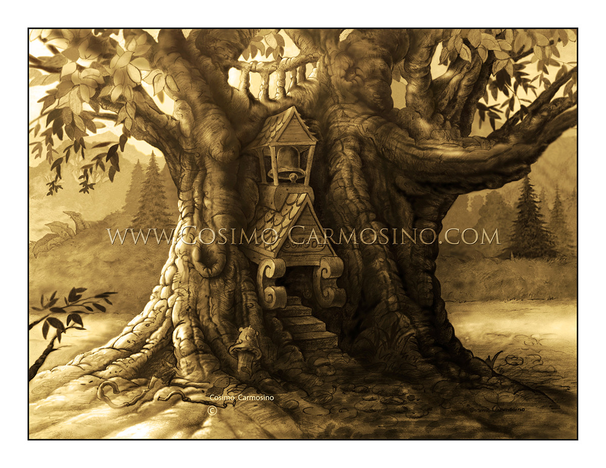 """TITLE: """"The Woody Fantasia Forest_Concept Art 1"""""""