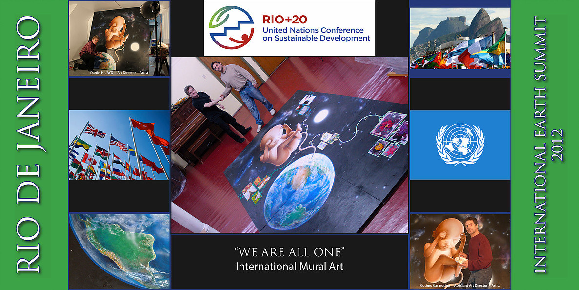 "TITLE: Promotional Flyer of ""We Are All One"" (International Earth Summit 