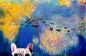 Classical Frenchie (after Claude Monet)