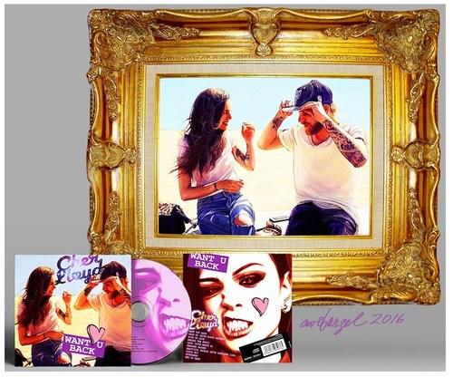 Cher Lloyd CD Display with Portrait