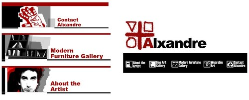 Axandre Website Banners
