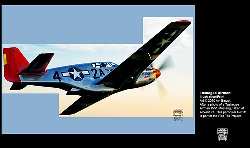 """P-51 """"Red Tail"""" of the Tuskegee Airmen"""