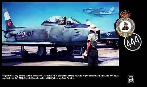 F/O Baltins in His Canadair CL-13