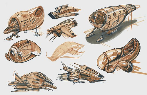 Space Ship Concept Sketches