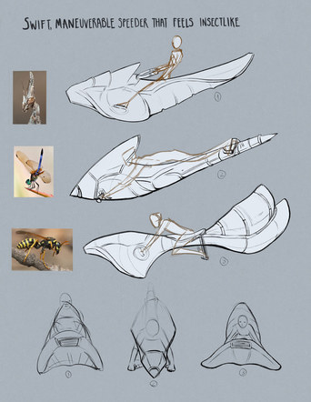 Speeder Concept Sketches
