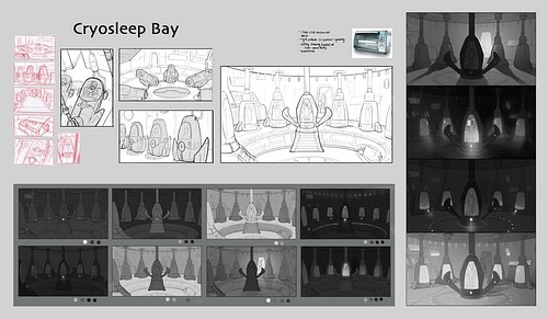 Cryosleep Bay Sketches