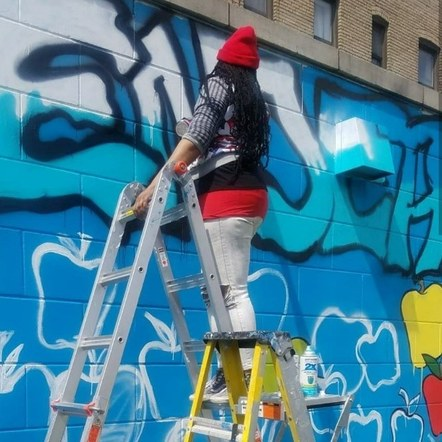 Mural at Achievement 1st Endeavor, Bk