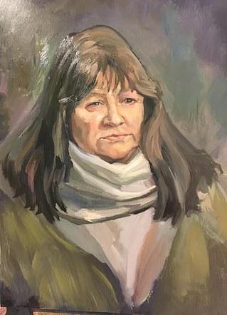 Pam, Volunteer at Kirkby Art Gallery.