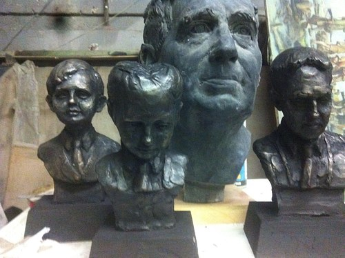 Selection of minature busts featured in the show.