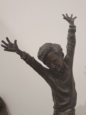 John Lennon as a Boy Leaping