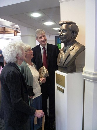 Unveiling for the Jack Ashley bust.