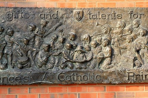 St Laurences RC Relief Sculpture. Dedicated to the memory of Deb Mottram Foster