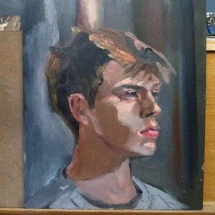 Alla Prima sketch of Margaret's son Niall