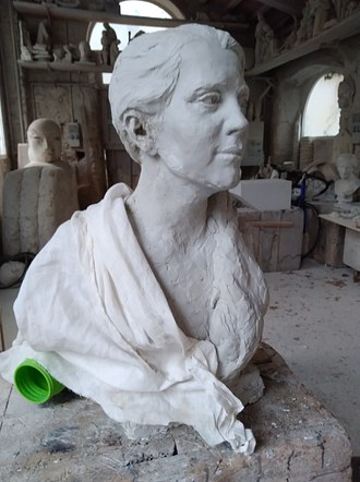 Life size bust of Clara