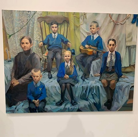 Portrait of some pupils and staff at St Michael and All Angels