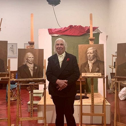 Grissaile portrait of Victor Caulfield