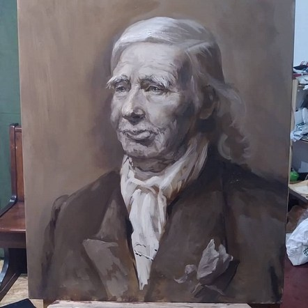 Grissaille Portrait of VictorCaulfield