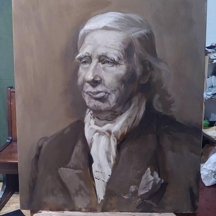 Grisaille Portrait of VictorCaulfield