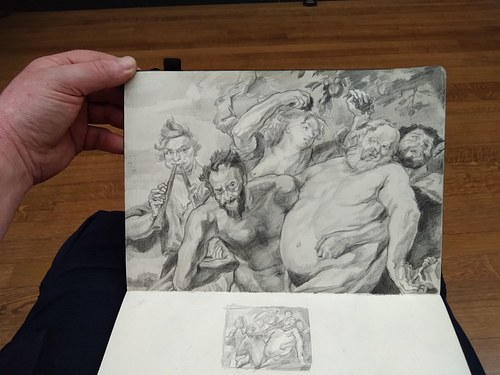 Study from Rubens at The National Gallery