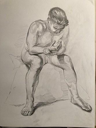life drawing (Dan) South Sefton Arts club