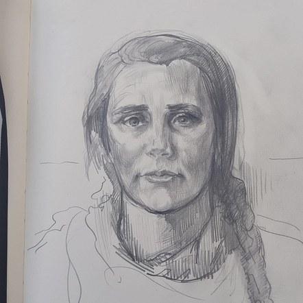 One hour sketch of Clara