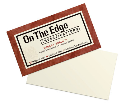 On The Edge Investigations | Final Business Card