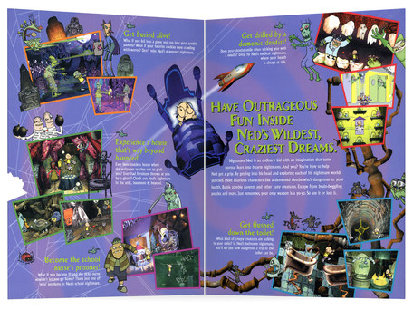 Nightmare Ned | Video Game Box Gatefold Spread