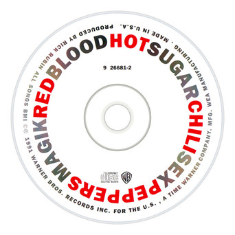Red Hot Chili Peppers | Blood Sugar Sex Magik Album CD Label