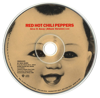Red Hot Chili Peppers | Give It Away Promo Single CD Label