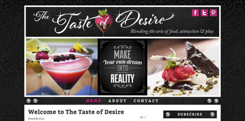 The Taste of Desire | Website Home Page