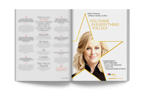 Amy Poehler Walk of Fame | Trade Ad