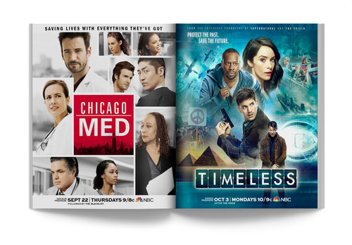 Chicago Med/Timeless | Spread Ad