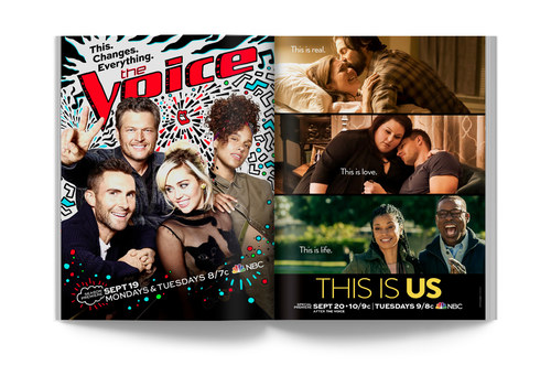 The Voice/This Is Us | Spread Ad