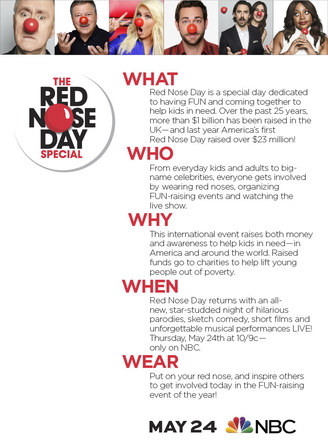 Red Nose Day | 2018 Info Poster