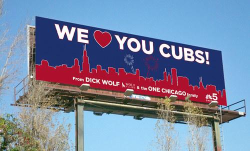 Dick Wolf Cubs Congrats | 14 x 48 Bulletin