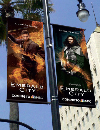 Emerald City | Pole Banners 4