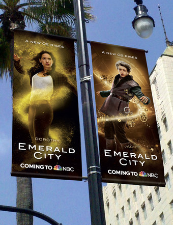 Emerald City | Pole Banners 1