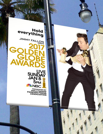 Golden Globes 2017 | Pole Banners