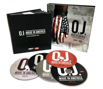 O.J.: Made in America | DVD Set Disc Design