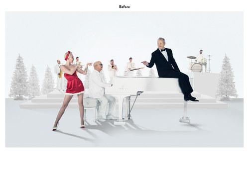 A Very Murray Christmas | Netflix Emmy Mailer Art (Before)