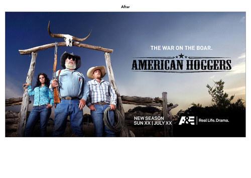 American Hoggers | A&E Show Key Art (After)
