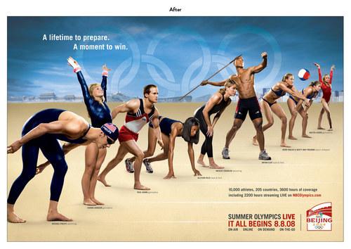 Summer Olympics in Beijing | NBC Advertising Art (After)