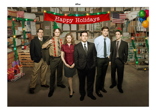 The Office, Season 6 | NBC Show Holiday Card (After)
