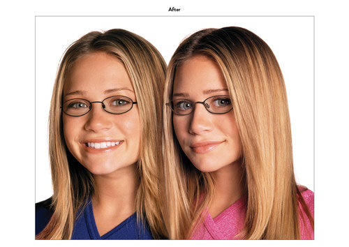 Mary Kate & Ashley Olsen | Eyewear Advertising Art (After)