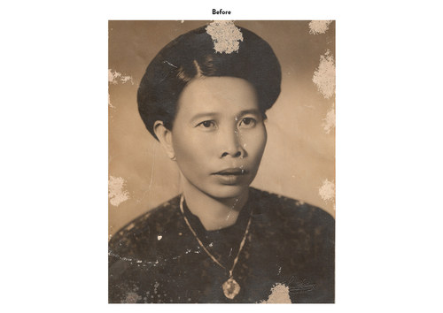 Asian Woman | Photo Restoration (Before)