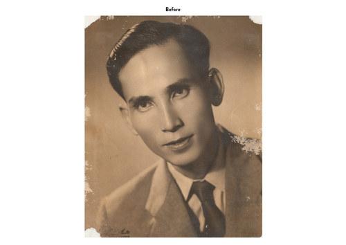 Asian Man | Photo Restoration (Before)