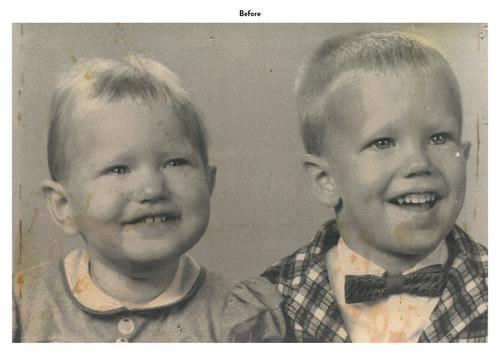 Siblings | Photo Restoration (Before)